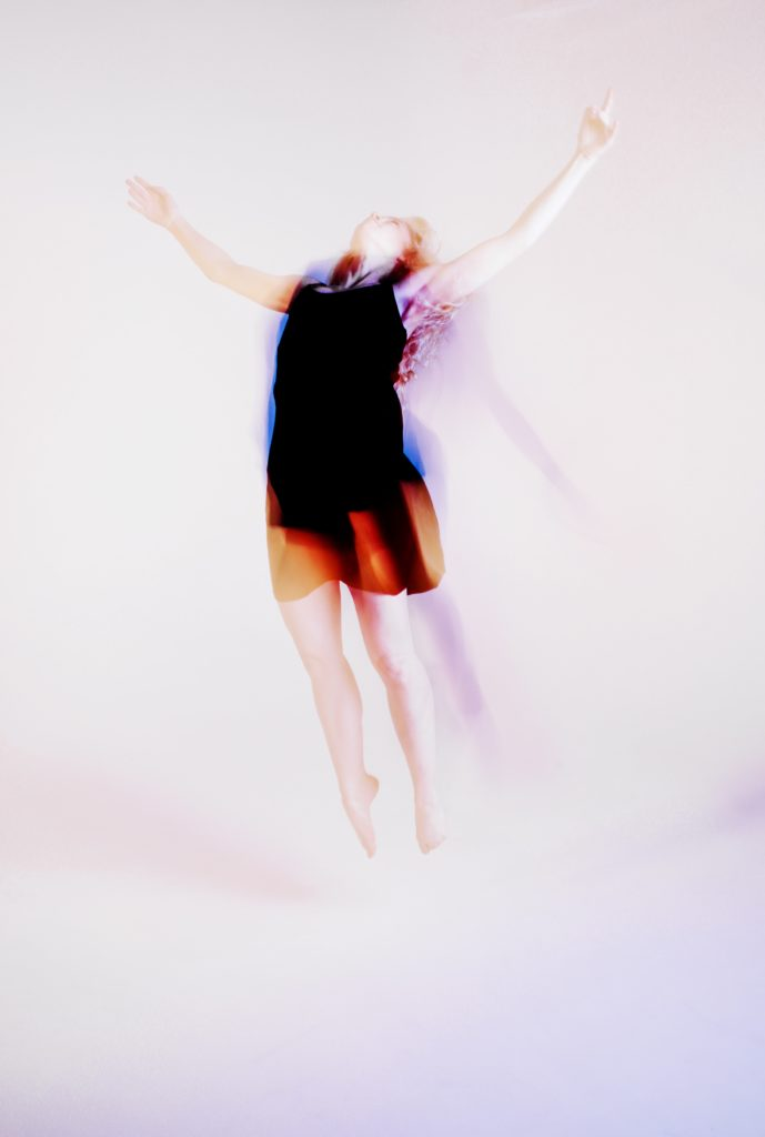 Picture of a woman floating